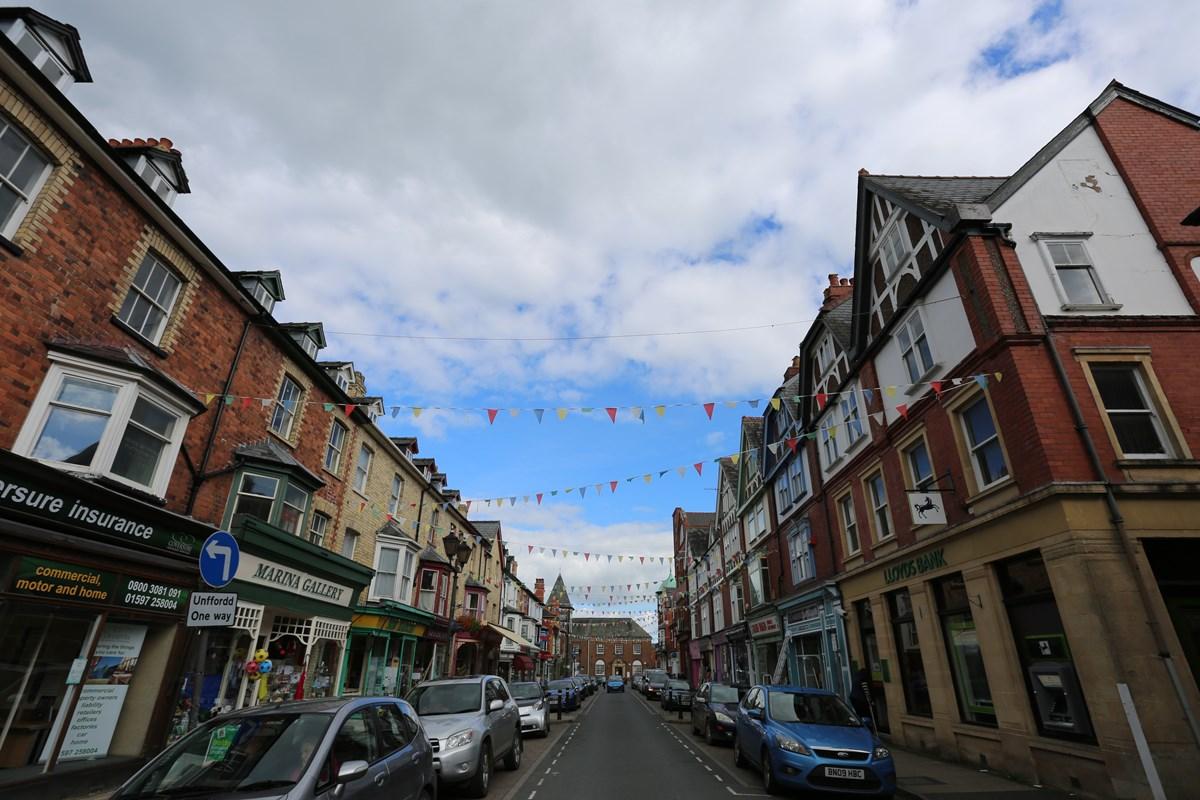 Llandrindod Wells main street