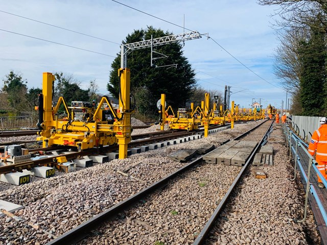 Vital railway upgrade works taking place over August Bank Holiday: Kings Lynn Siding works