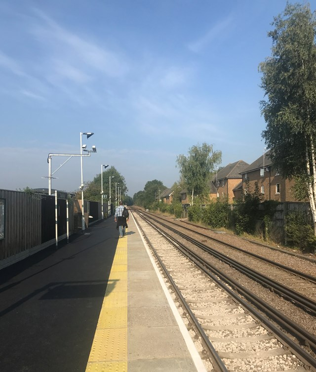Network Rail gives Edenbridge station a makeover with platform refurbishment: Edenbridge Station 1