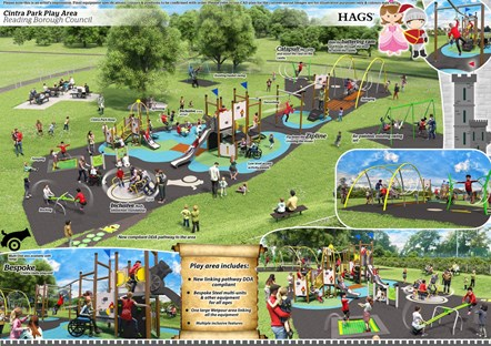 Cintra Park Play Area Design by HAGS: The winning design for the refurbishment of the Cintra Park Children's Playground