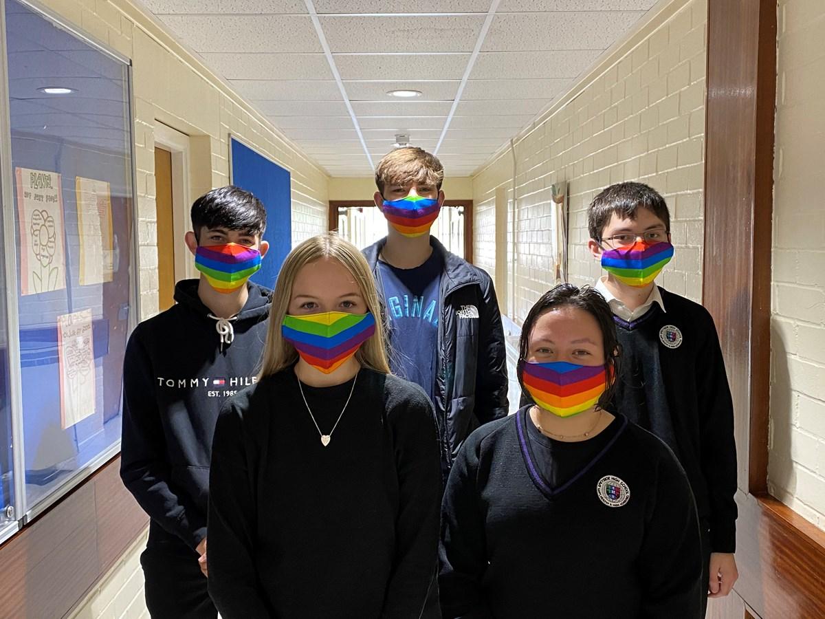 Speyside pupils Pride face masks