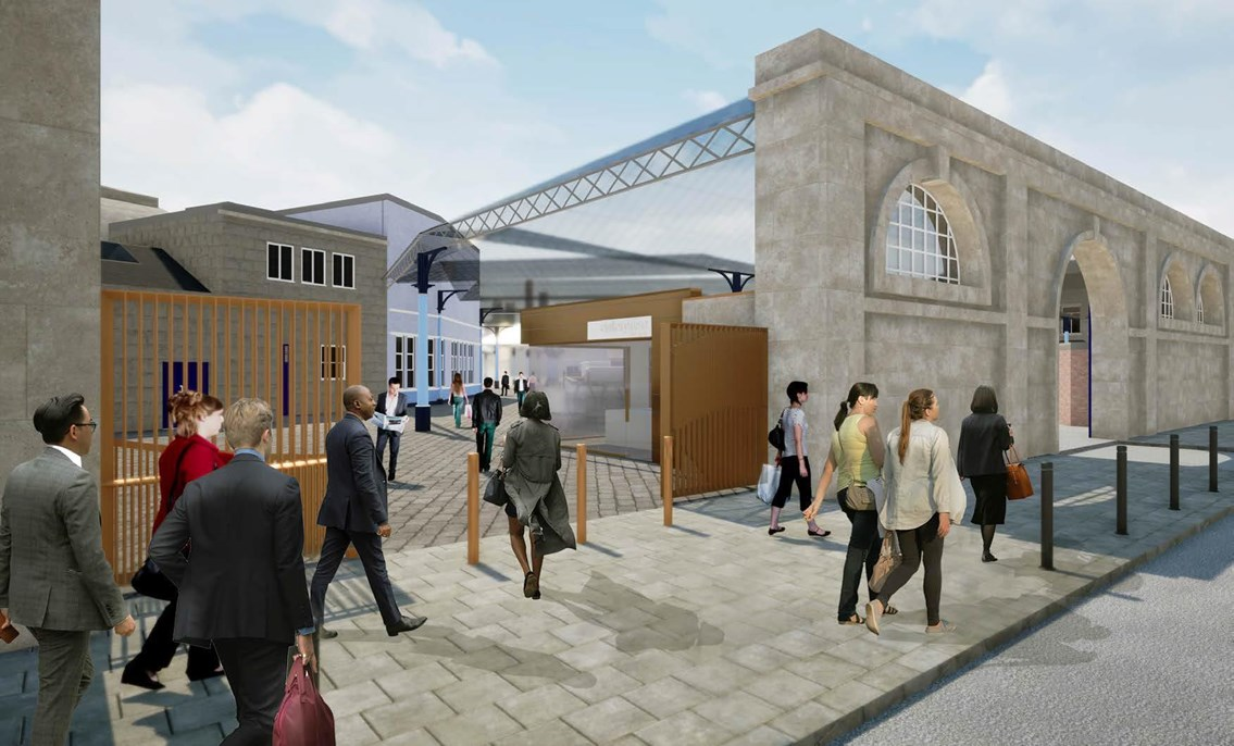 Green light for Newcastle Central Station: Artist impression of Neville Street entrance