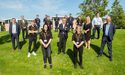 Siemens Mobility's first Goole apprentices start college: Siemens Mobility Goole apprentices. jpg