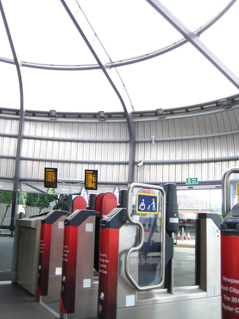 Newport station is equipped with disabled access