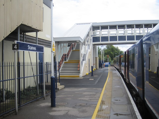 BETTER STATION ACCESS GIVES STAINES A LIFT: Staines Footbridge