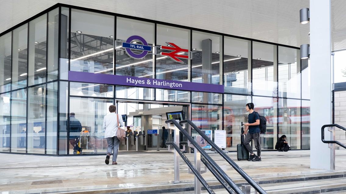 TfL Image - Hayes & Harlington steps to station entrance
