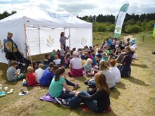 Story time at Tentsmuir open day: Please credit Scottish Natural Heritage.