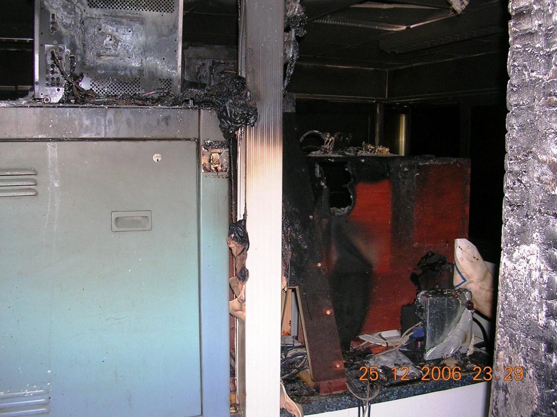 Fire damage to Kilmarnock signalling centre: Fire damage to Kilmarnock signalling centre
