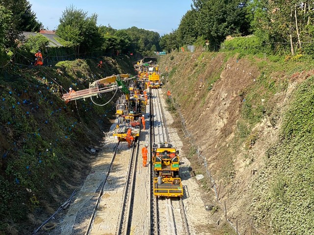 Rail passengers thanked for their patience after Ashford line landslip prevention works carried out: Bearsted Complete (4)