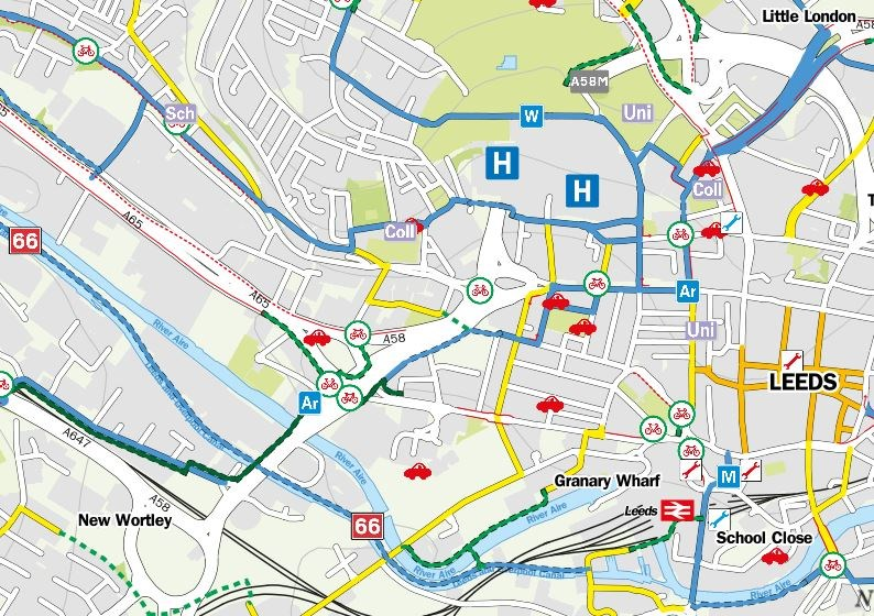 Discover the delights of cycling in Leeds through a new interactive cycle map for West Yorkshire : interactivemap.jpg