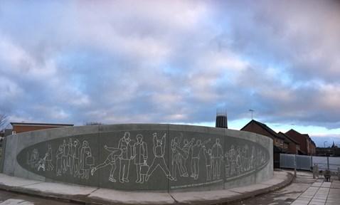 Bullring mural revamped March 2018