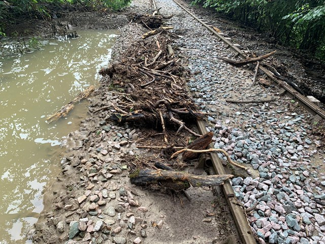 Repair work has already started on the Heart of Wales line