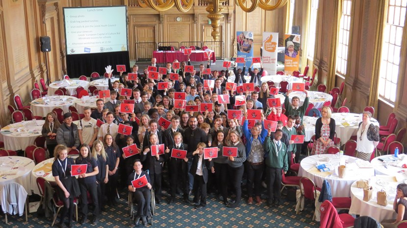 Leeds youngsters voice their views on discrimination at youth summit: youthvoicesummitgroup.jpg