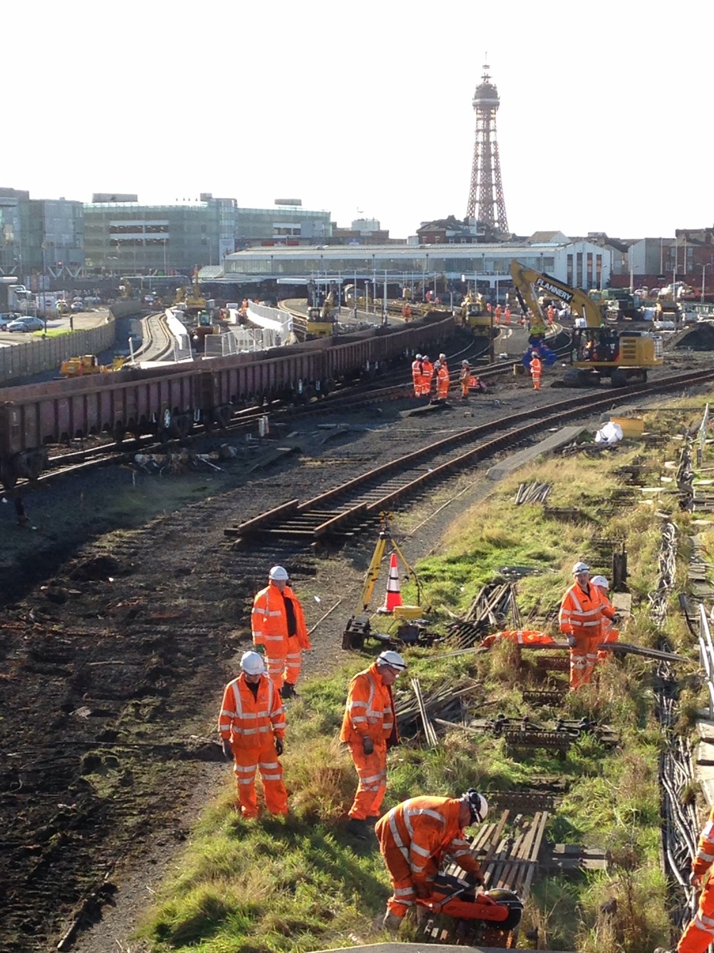 Blackpool's railway revolution is right on track: Blackpool week 1 - removing the track