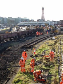 Blackpool week 1 - removing the track