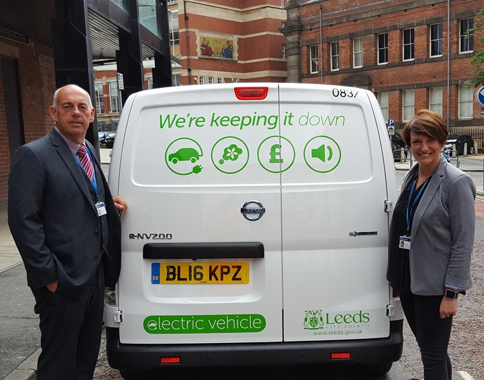 Power surge as council fleet goes electric: cllryeadonandterrypycroft.jpg