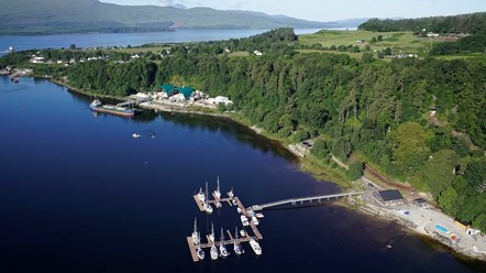 Lochaber community hydropower scheme confirms new finance: Lochaline Harbour, Morvern Gloo
