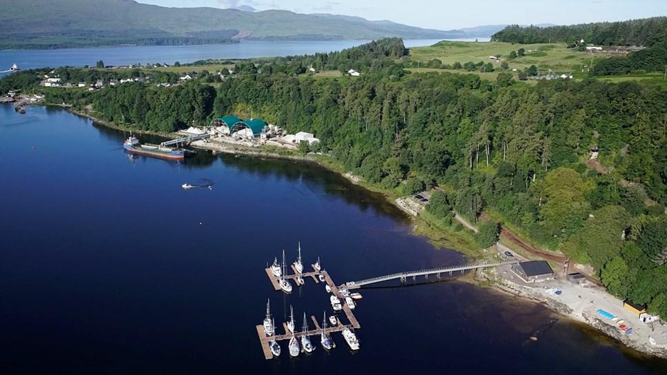 Lochaber community hydropower scheme confirms new finance: Lochaline Harbour, Morvern Gloo