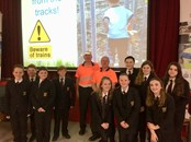 "Caerphilly children given ""hard hitting and thought provoking"" talk on rail safety: StMartinsSchool2"