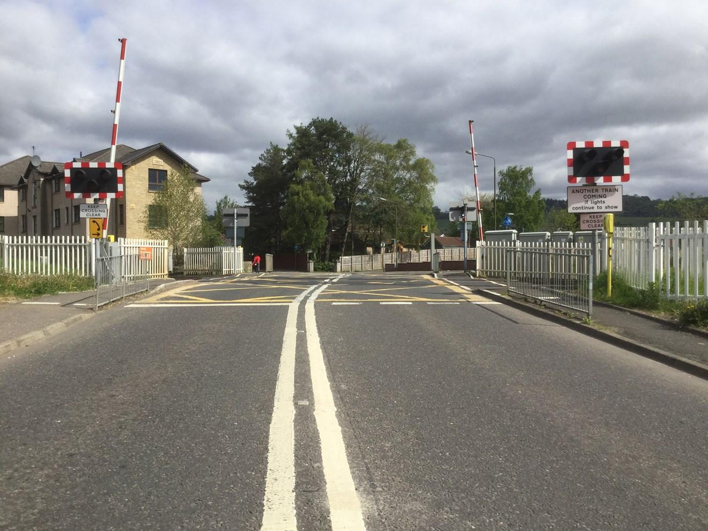 New barriers for Cornton level crossing: Cornton level crossing