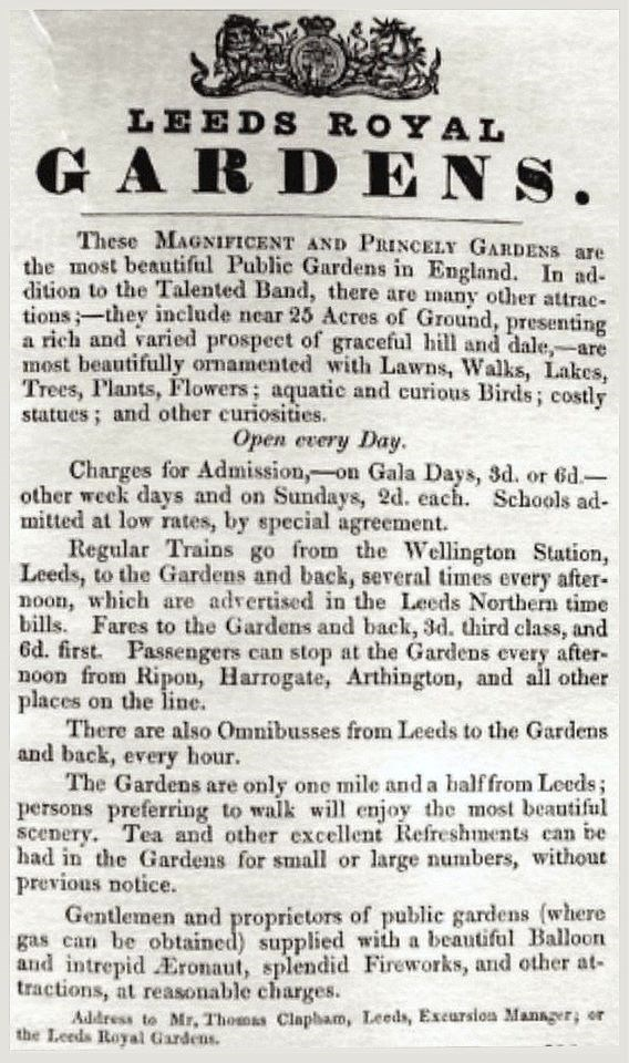 A Garden Through Time: Advertisement for the gardens, which appeared in a local newspaper.