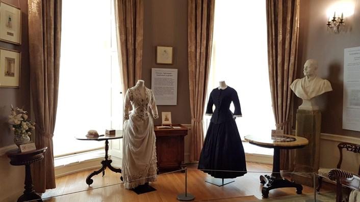 Laura Bonham Carter's dress in display