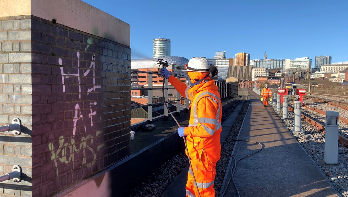 Word on the street: 'graffiti hit squad' launched to clean-up railway: Digbeth graffiti 2