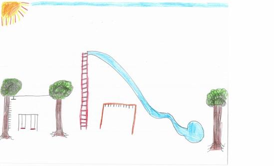 School children's drawings inspiring Burton Dassett play area CEF project-2