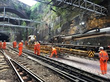Track work at Liverpool Lime Street station
