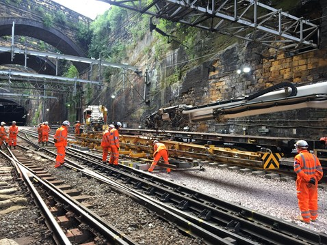 VIDEO: Liverpool Lime Street major upgrade: Track work at Liverpool Lime Street station