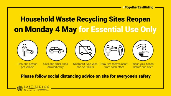 Recycling sites to reopen next week – but with strict measures in place: Recycling Social Graphics Reopen Monday FACEBOOK