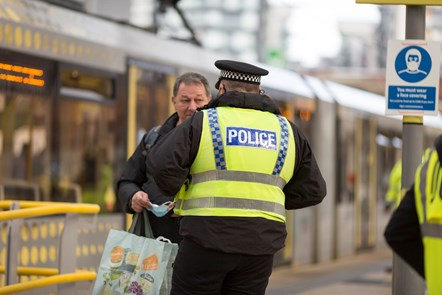 TSP Victoria day of action officer on Metrolink stop