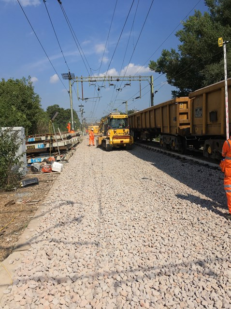 Track renewals at Witham - new track