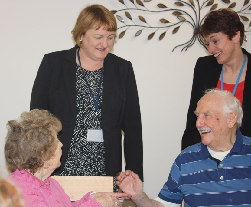 New lease of life for sheltered accommodation: 160128farrarlaneopeningcllrcouparandjulietduke.jpg