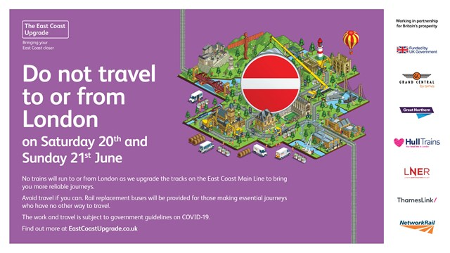 No trains in or out of London King's Cross on June weekend as East Coast Upgrade work continues: No trains in or out of London King's Cross on June weekend as East Coast Upgrade work continues