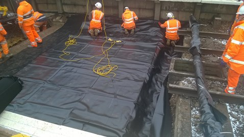Network Rail successfully completes major work to improve drainage at Potters Bar station