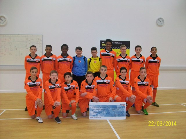Luton footballers take Railway Safety Stateside: As part of initiative to tackle railway crime, Network Rail is working in partnership with a under 14's football team to encourage young people to take up more positive activities in Bedfordshire.