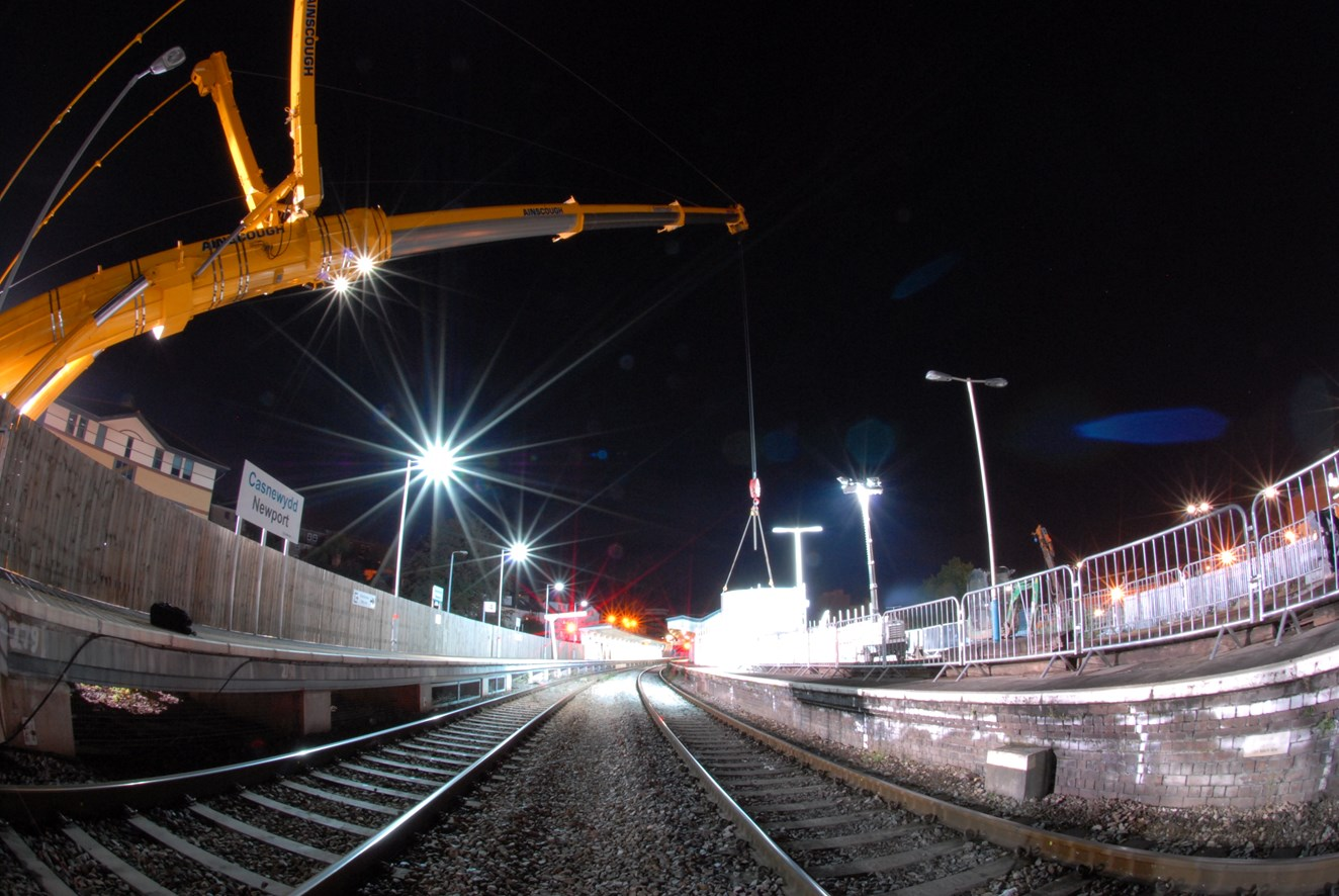 500-tonne road rail crane takes Newport station to new heights