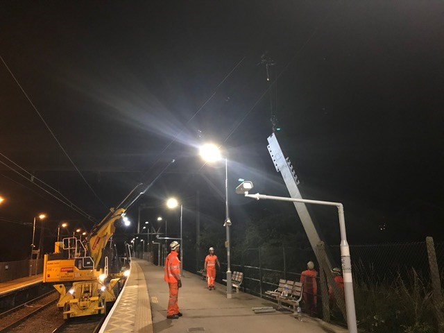 Transformation of Southend rail service underway: Structure install weeknights June 2018