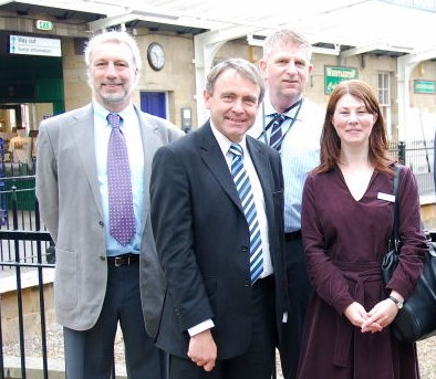 Robert Goodwill MP visits Whitby station