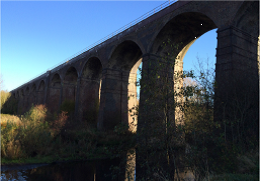 Network Rail reopens the Hope Valley line between Sheffield and Manchester following successful refurbishment of iconic Reddish viaduct: Reddish viaduct-3