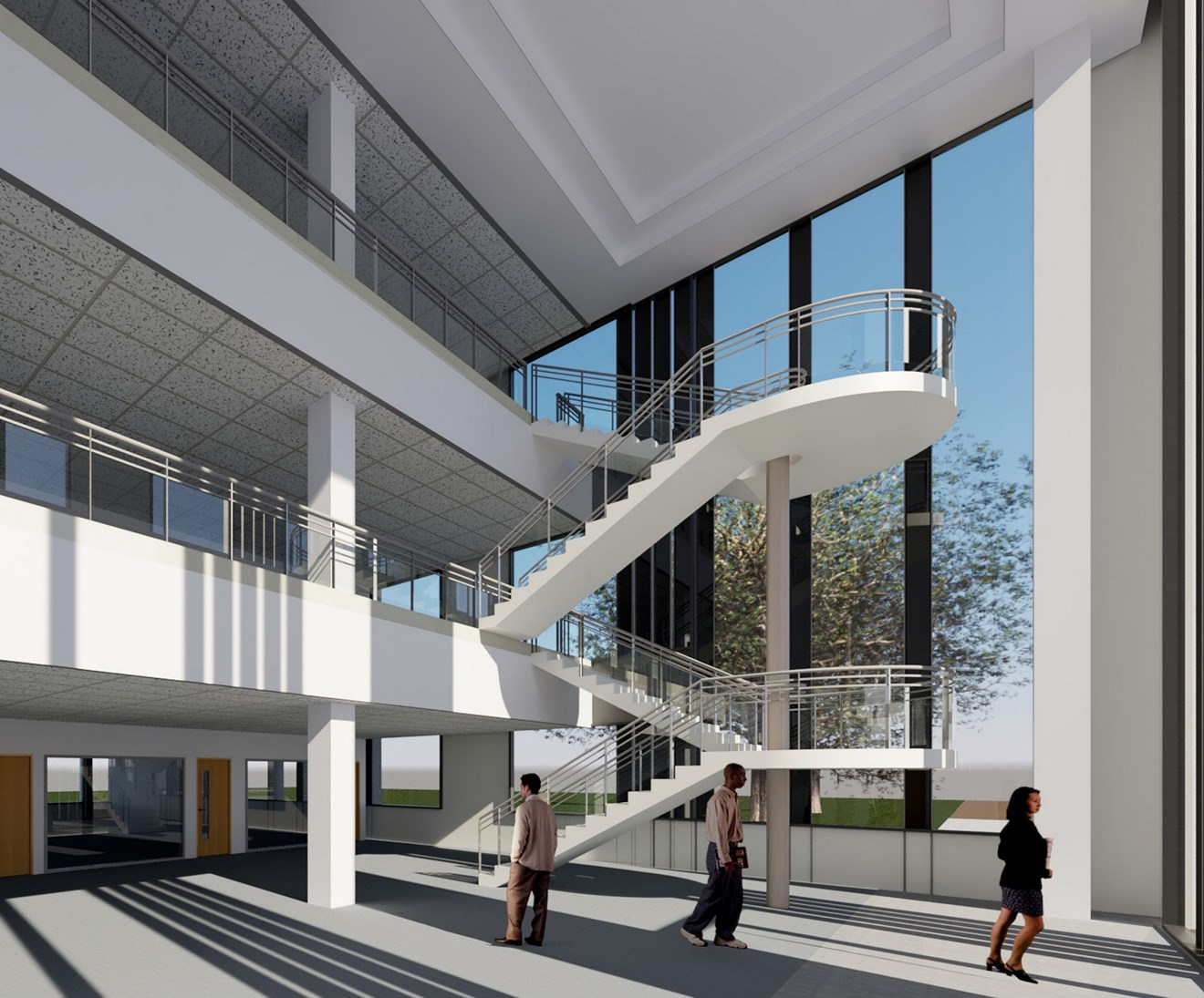 Goole building internal CGI