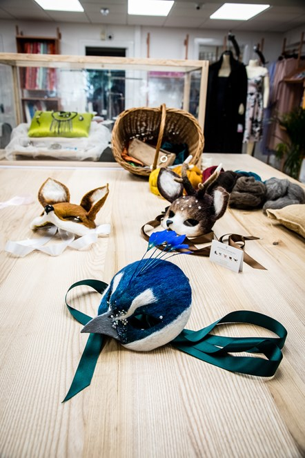 A selection of masks by designer-maker Mary Obaseki of Another Earthling at FC Designer Collective