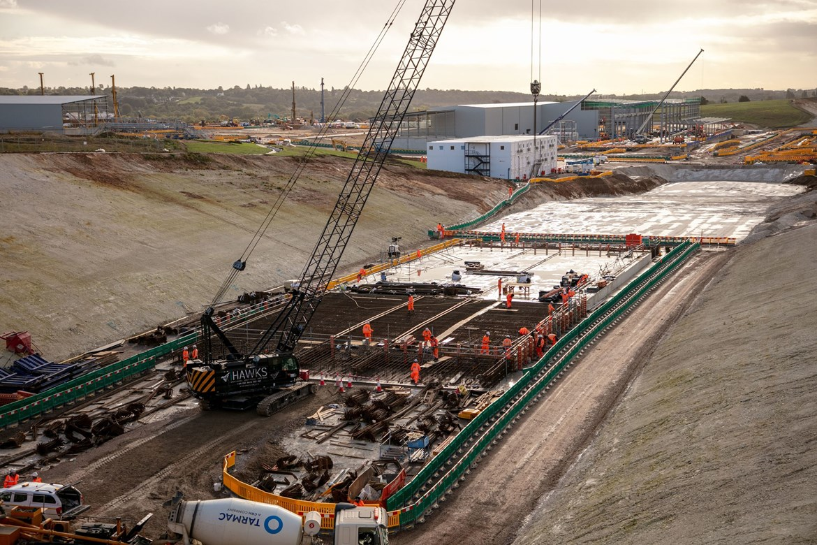 Carlisle firm plays crucial role in delivery of HS2: Works at the Chilterns South Portal October 2020