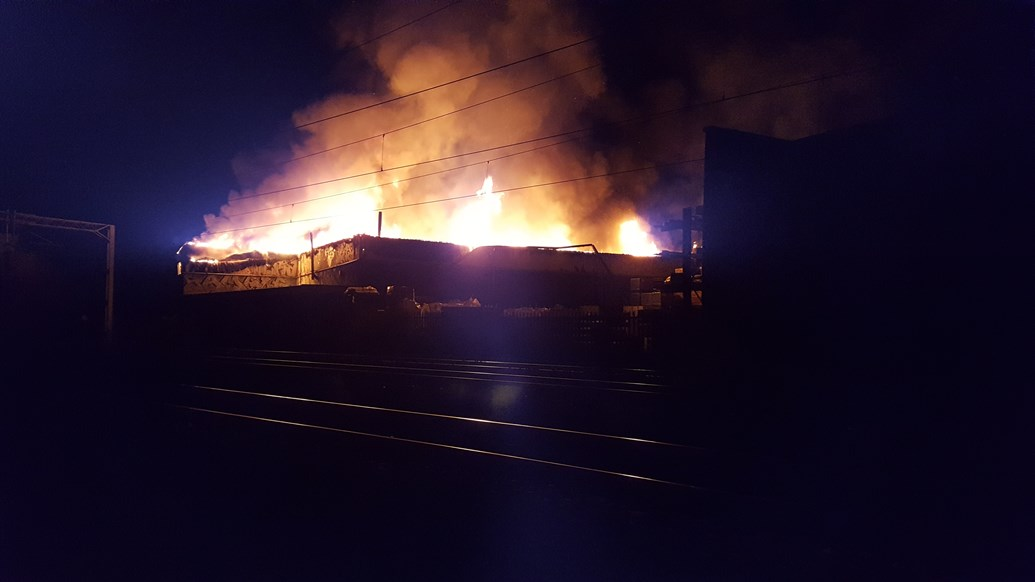 Updated Network Rail statement: Fire near railway in Harrow affecting services on West Coast Main Line: Fire at Headstone Lane Harrow