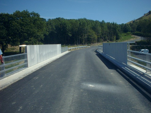New road bridge: New road bridge constructed to provide an alternative route for former users of Old Chapel crossing