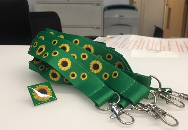 London Liverpool Street station to recognise hidden disability sunflowers: Sunflower lanyards