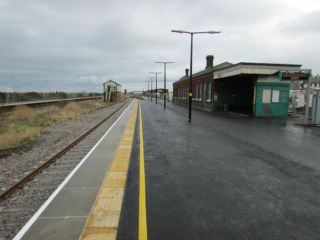 Abergele and Pensarn station platform now open following work on £50m North Wales Railway Upgrade Project: Abergele and Pensarn station upgrade work