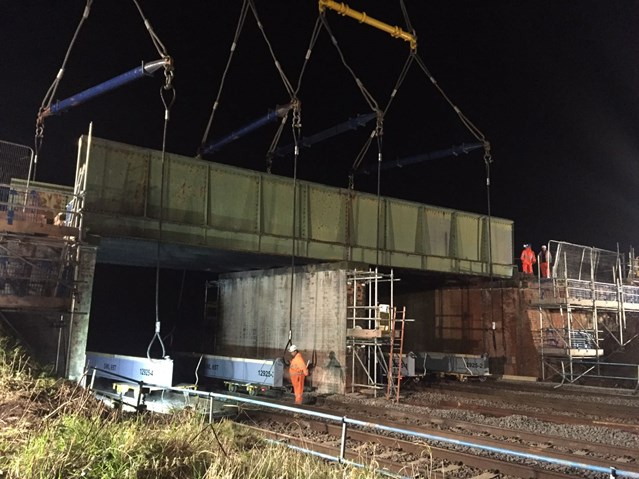 Network Rail reaches vital stage in Midland Main Line upgrade: Syston Road bridge demolition