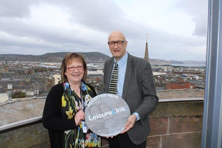 Moray Council announces Leisure Link partnership to widen access to fitness: Cllr Sonya Warren and High Life Highland CEO Ian Murray